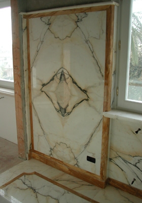 Bagno Giallo Siena e Paonazzo   Stonest Marmo & Graniti