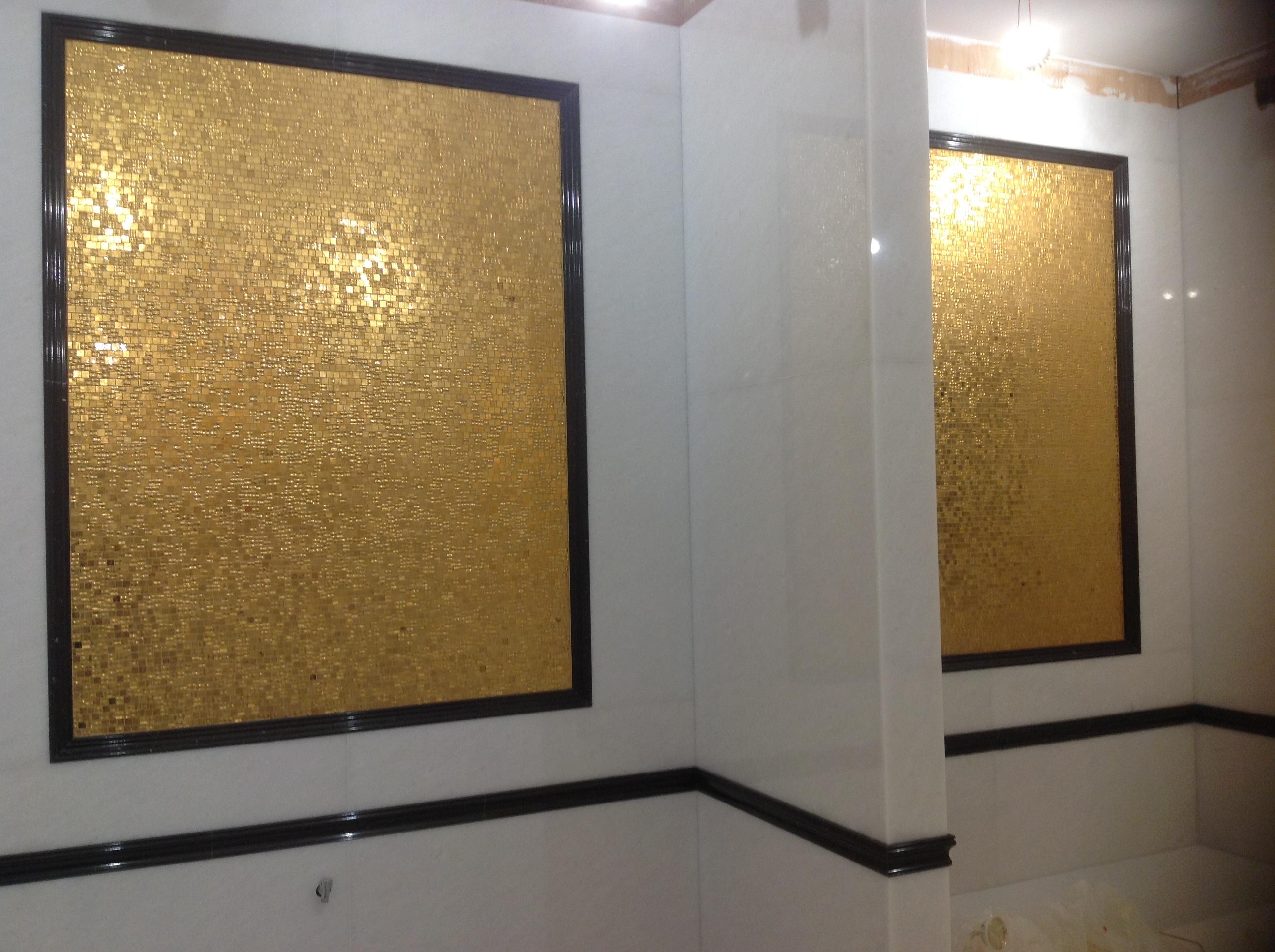 Bagno Con Mosaico Nero : Bagno mosaico oro stonest marmo graniti